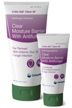 Coloplast® Critic-Aid® Clear AF - Clear Moisture Barrier with Antifungal - 5 Oz. Tube