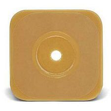Esteem Synergy 5 x 5 in. Stomahesive Skin Barrier w/o Tape Collar - Yellow (Cut-to-fit) up to 2-3/8