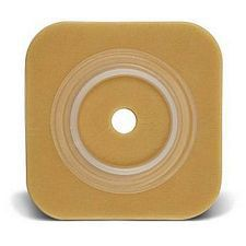 Natura Durahesive 5 x 5 in. Skin Barrier w/flange, no tape collar - Blue (Cut-to-Fit) 2-3/4 in.