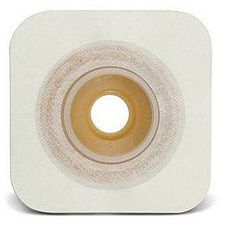 SUR-FIT Natura® Durahesive® Flexible Skin Barrier w/flange and White Tape Collar (4 x 4in.)