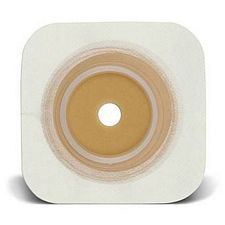 SUR-FIT Natura® Durahesive® Flexible Skin Barrier w/flange and White Tape Collar (5 x 5in.)