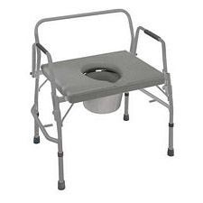 Heavy Duty Drop-Arm Welded Commode