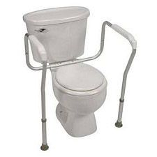 Adjustable Toilet Safety Arms with Bactix