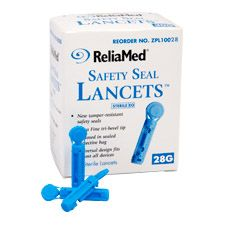 Reliamed Safety Seal Lancets - 28-gauge (100/Box)