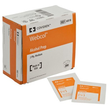 Kendall Webcol® Alcohol Preps - 2-ply wipes (200/Box)