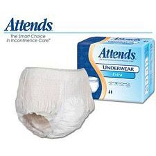 Attends Underwear Extra Absorbency - X-Large (58 - 68 in.) (14/Box)