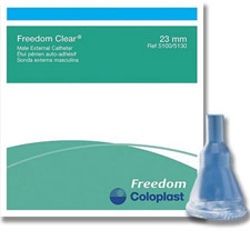 Mentor - Coloplast Freedom Clear®, Self-Adhering Male External Catheter