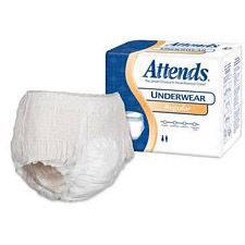 Attends Underwear Regular Absorbency - Large (44 - 58 in.) (18/Box)