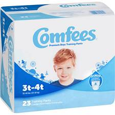 Comfees Training Pants for Boys - Size 3T-4T, 32-40 Lbs (23/Pack)