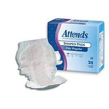 Attends Shaped Pads - Day Regular Wear (24/Box)