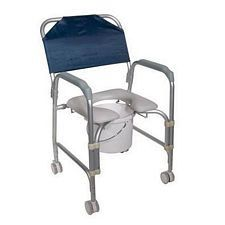 Portable Shower Chair Commode w/ Casters