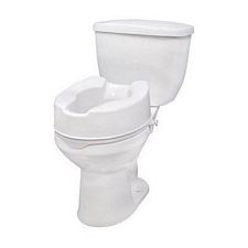 Raised Toilet Seat with Lock (6 in.)