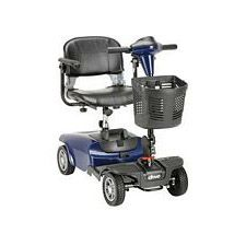 Blue Dart 4 Wheel Compact Scooter, Blue