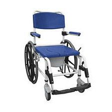 Drive Aluminum Rehab Shower Commode Wheelchair with 24 in. Rear Wheels