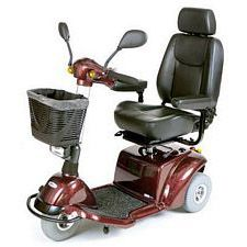 Pilot 3-Wheel Power Scooter (18 in., Burgundy)