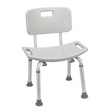 Bathroom Shower Tub Bench Chair w/ Back