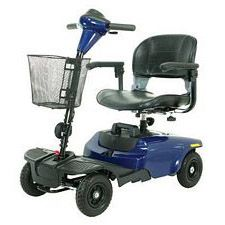 Bobcat 4-Wheel Blue Compact Scooter