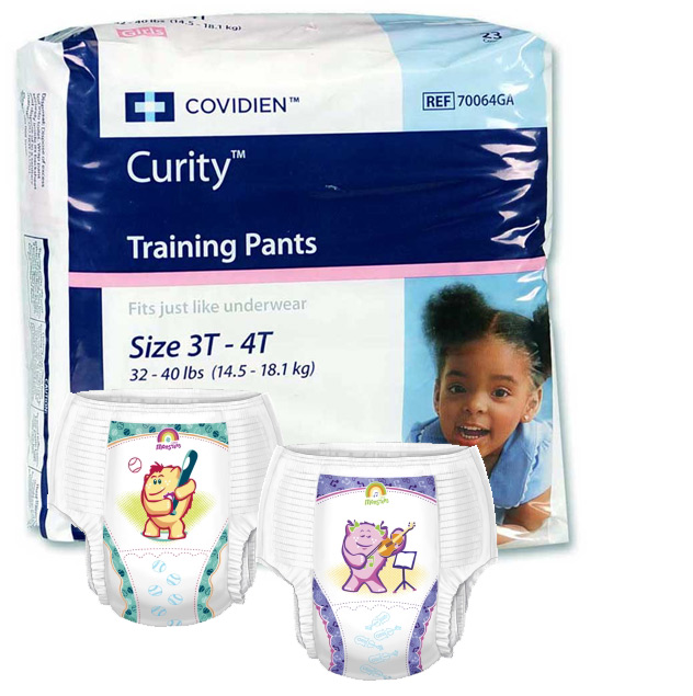 Covidien Pull Up Training Diapers - Size 3T-4T (23/Pack)