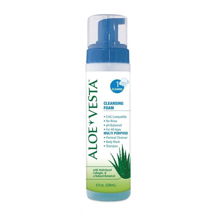 ConvaTec Aloe Vesta 3-n-1 Cleansing Foam - 8 Oz.