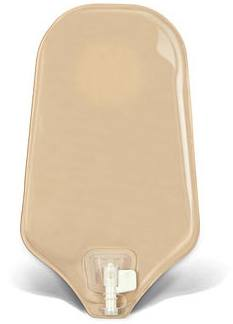 SUR-FIT Natura® Standard Urostomy Pouch w/ Accuseal® Tap, w/1-sided Comfort Panel - Opaque