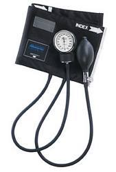 MABIS Legacy Latex-Free Aneroid Sphygmomanometer with Black Nylon Cuff (Large Adult)