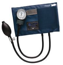 Caliber Aneroid Sphygmomanometer with Blue Nylon Cuff (Large Adult)