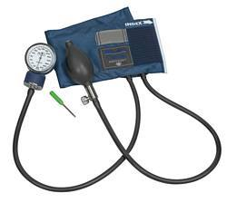 Caliber Adjustable Aneroid Sphygmomanometer with Blue Nylon Cuff