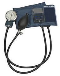 Precision Latex-Free Aneroid Sphygmomanometer - Blue Nylon Cuff (Large Adult)