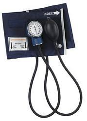Economy Aneroid Sphygmomanometer with Blue Nylon Cuff (Thigh)