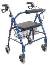 Ultra Lightweight Aluminum Rollator w/ Straight Backrest