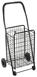 Folding Shopping Cart, Black