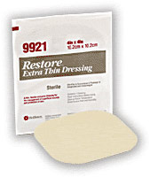 Hollister® Restore Extra Thin Wound Dressing - 6 x 8in. (3/Box)