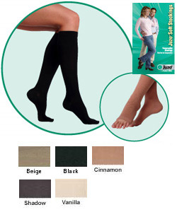 JUZO Soft Knee-High Stocking w/ Border - 30-40mmhg (Open Toe, Short Length)