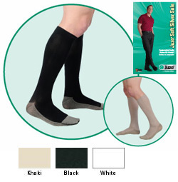 JUZO Soft Silver Sole Ribbed Stocking - 30-40mmhg (Closed Toe, Short Length)