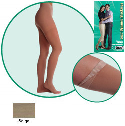 JUZO Dynamic Thigh-High Stockings - 20-30mmhg (Closed Toe, Petite Length)