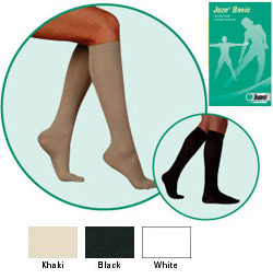 JUZO Basic Ribbed Knee-High Socks - 20-30mmhg (Closed Toe, Short Length)