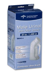 Male Plastic Urinal w/ Lid
