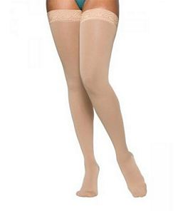 860 Select Comfort Series - Womens Thigh-High w/ Grip Top Stockings - 20 - 30mmHg
