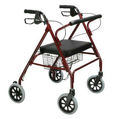 Go Lite Oversized 4-Wheel Steel Walker (500 lbs. Capacity)
