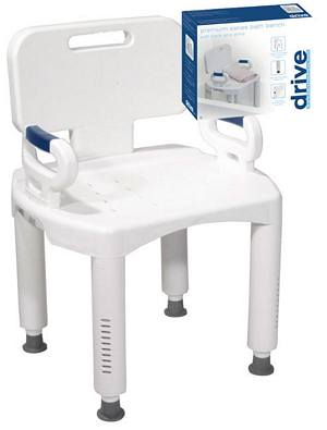 Drive Medical Premium Series Bath Bench with Back and Arms