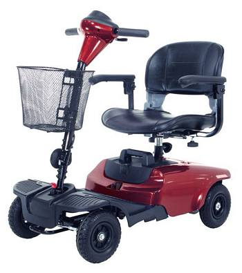 Bobcat 4-Wheel Red Compact Scooter