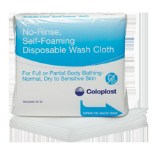 Bedside-Care Easicleanse No-Rinse, Self-Foaming Washcloth (100 Packs of 5 Sheets)