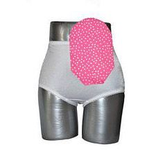 C&S Ostomy Pouch Covers - Pink with White Polka Dots (Open)