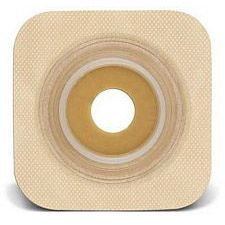 SUR-FIT Natura® Stomahesive® Flexible Wafer - Tan 4 in. x 4 in. (Pre-Cut)