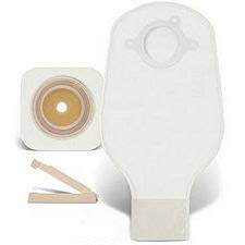 Natura 2-Piece Durahesive Flexible Wafer w/ Urostomy Pouch & Accuseal Tap Unit Dose Kit
