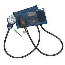 Caliber Adjustable Aneroid Sphygmomanometer with Blue Nylon Cuff (Large Adult)