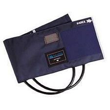 Sphygmomanometer Cuff & Two-Tube Bladder with Blue Nylon (Large Adult)