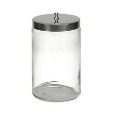 Glass Sundry Jar With Metal Lid