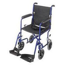 19 in. Ultra Lightweight Aluminum Transport Chair