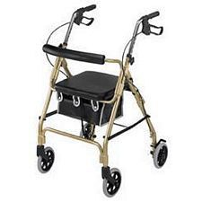 Ultra Lightweight Aluminum Rollator with Comfort Curved Backrest